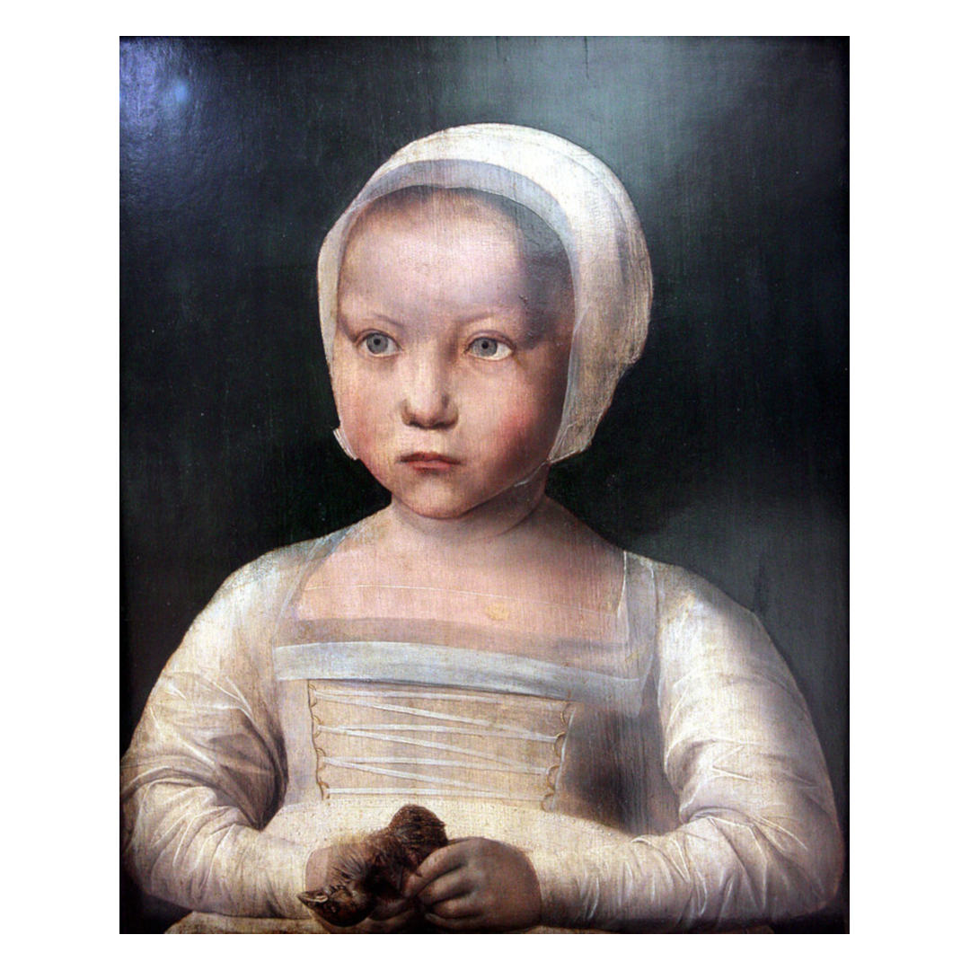 Little Girl with Dead Bird by an unknown Flemish Renaissance painter